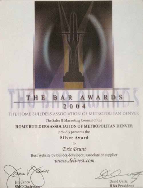 2004 Home Builders Association Bar Award